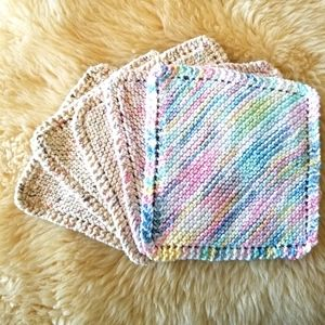 Handmade Crocheted Dish Towels (Set of 5)
